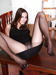 mature in nylon stockings